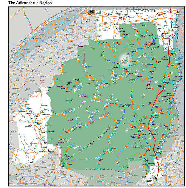 Adirondacks Lakes Map