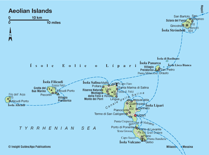 Aeolian islands map aeolians mappery