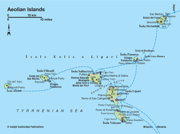 Islands Of Italy Map.Aeolian Islands Map Aeolians Mappery