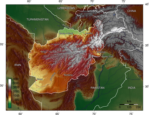 Afg Topographic Map