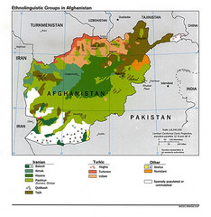 Afghanistan Entholinguistic Map