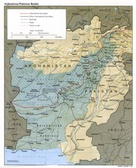 Afghanistan-Pakistan Border Map