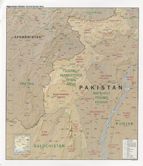 Afghanistan-Pakistan Central Border Area Map