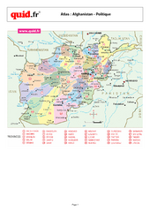 Afghanistan Provinces Map