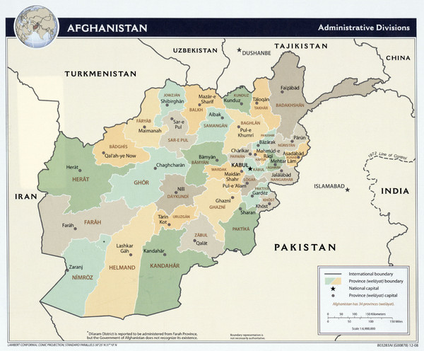 Afghanistan Tourist Map