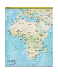 Africa CIA world factbook Map