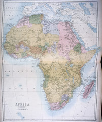 Africa Map 1885