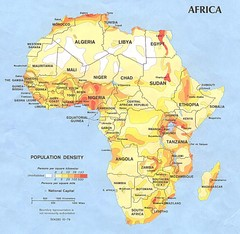 Africa Population Map