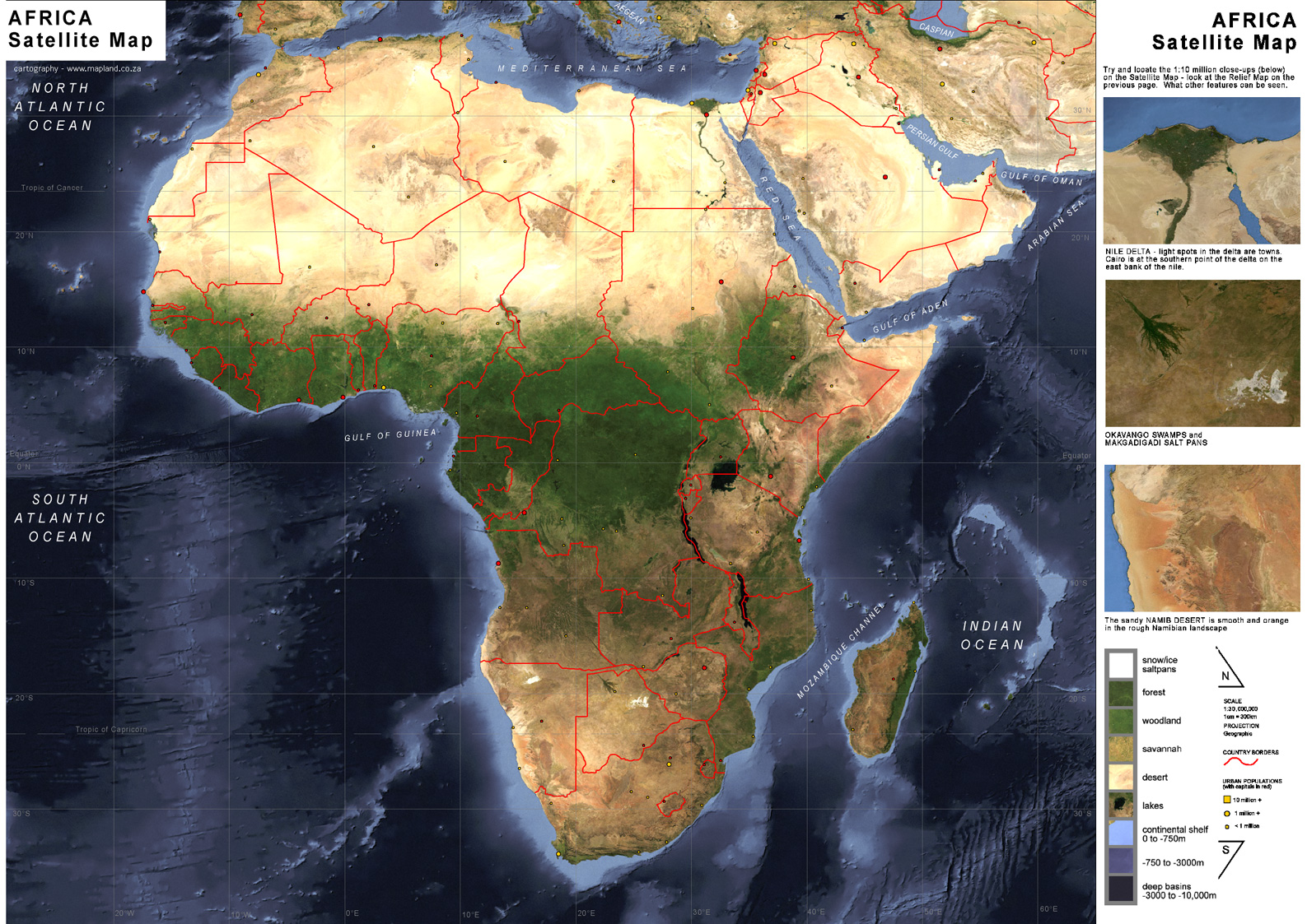 Africa Satellite Map Africa Mappery