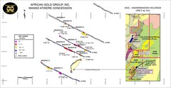 African Gold Group Masno Atwere Concession Map