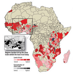 African distrust and the slave trade Map