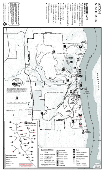 Afton State Park Summer Map