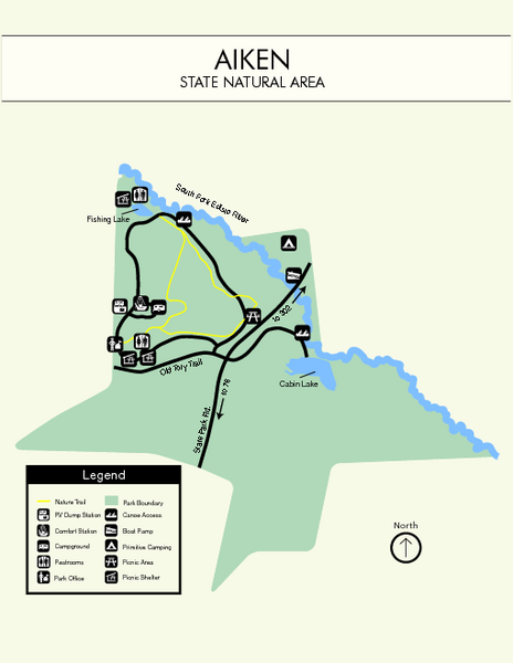 Aiken State Park Map Aiken State Park South Carolina USA mappery