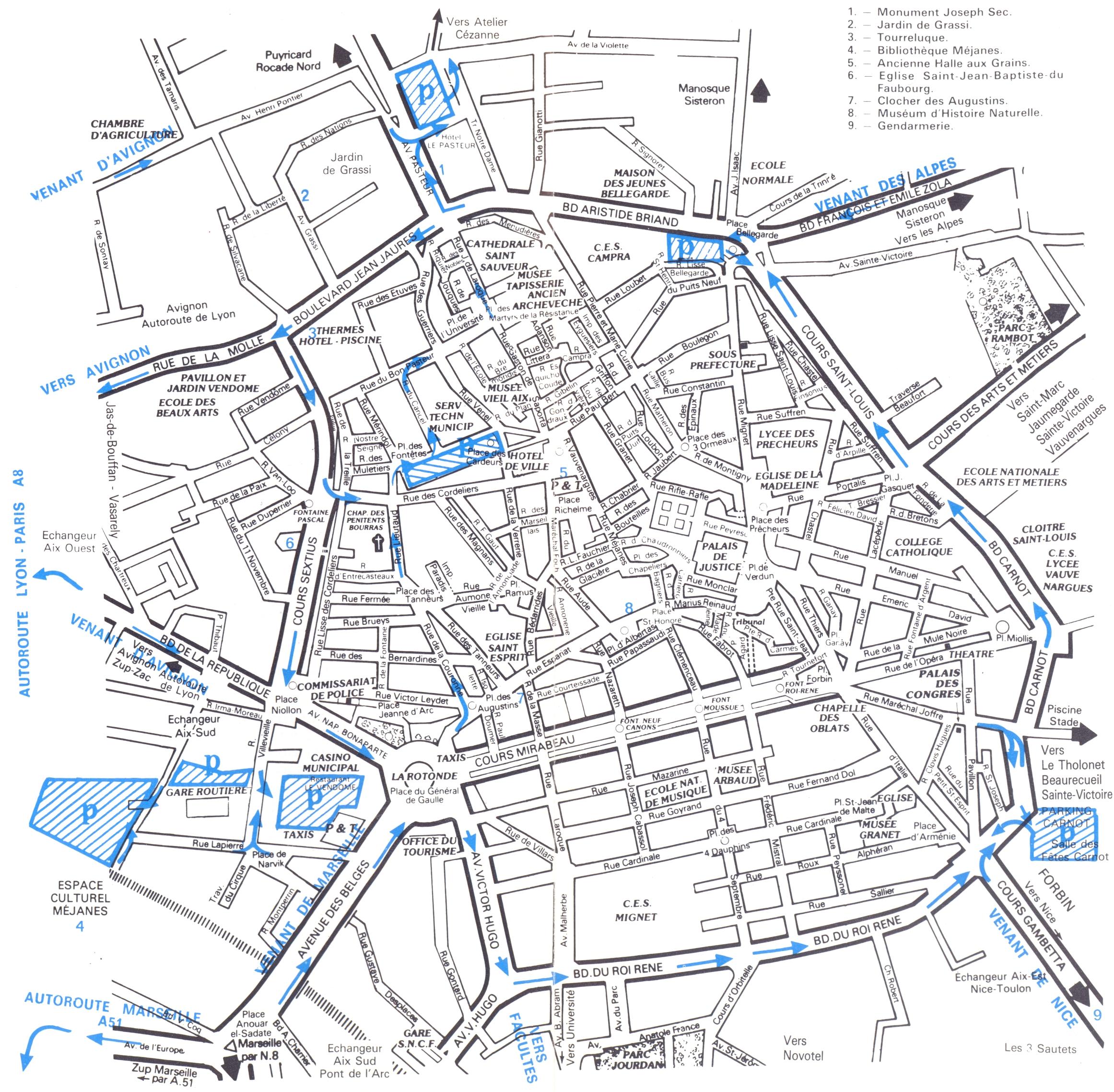 Aix en Provence Map aix en provence france mappery