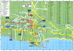 Aiya Napa Hotel Map