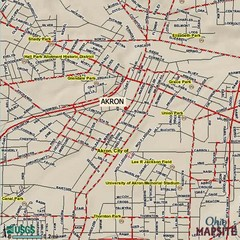 Akron, Ohio City Map