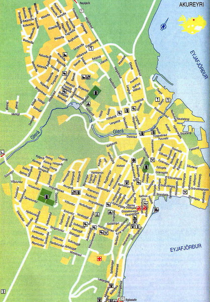 Akureyri City Map