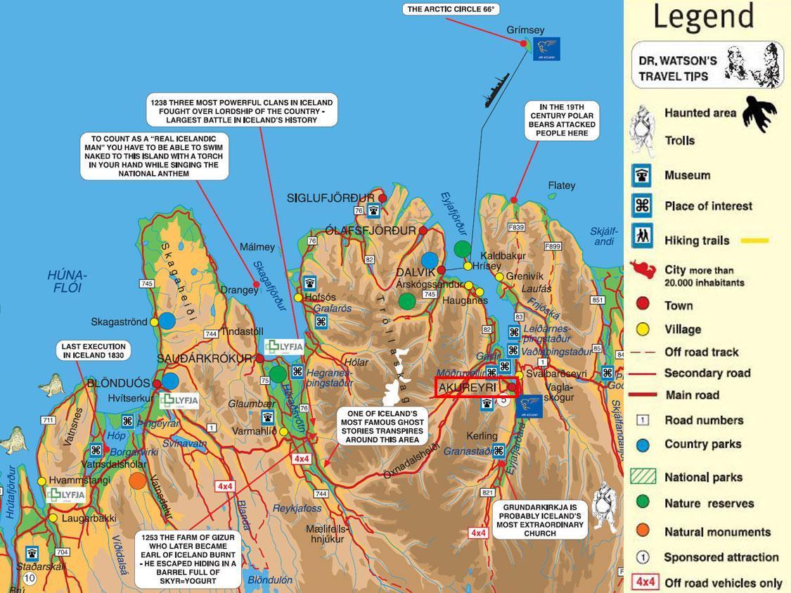 . akureyri iceland tourist map  akureyri • mappery