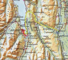 Akureyri area Map