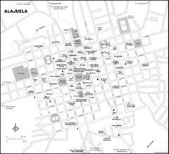 Alajuela City Map