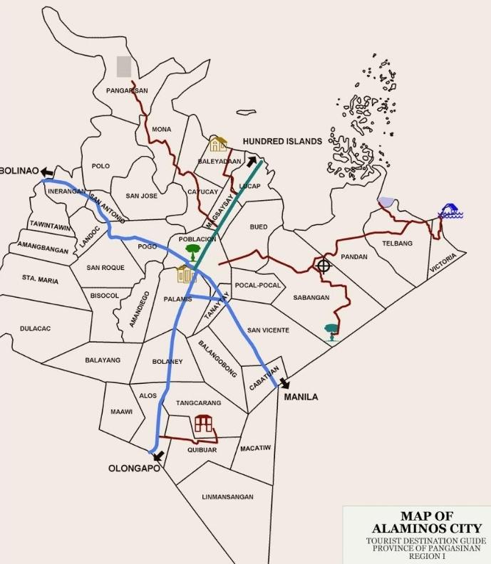 Alaminos City Tourist Map Alaminos City mappery