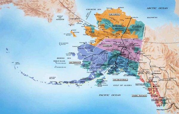 Alaska Map Alaska mappery