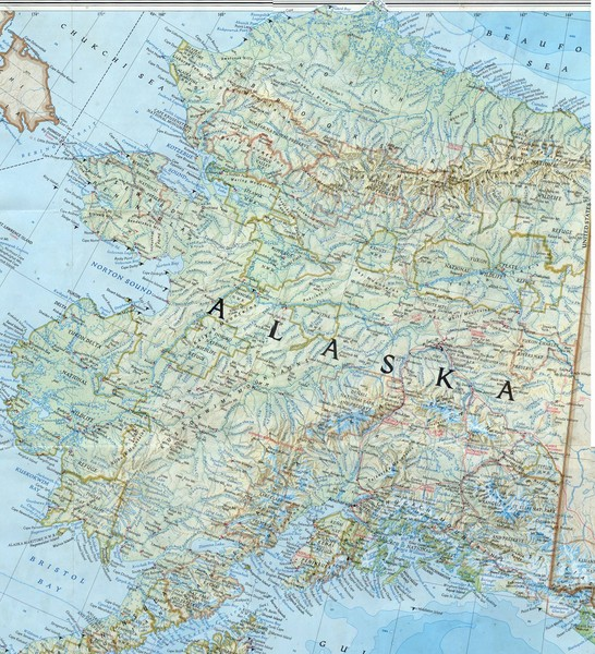 map of alaska with cities and towns. Map of the state of Alaska that includes all roads, towns, county divisions,