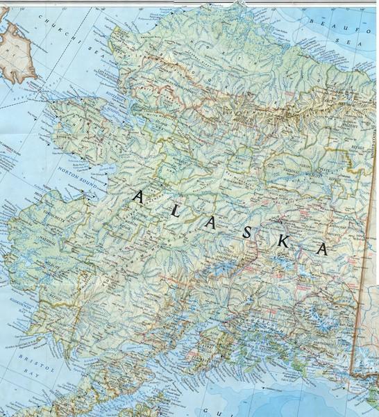 Alaska Map Alaska USA Mappery - Map of alaska towns
