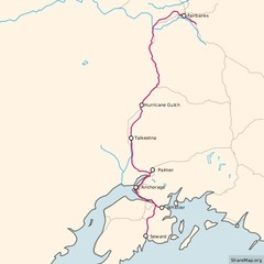 Alaska Railroad ma Map