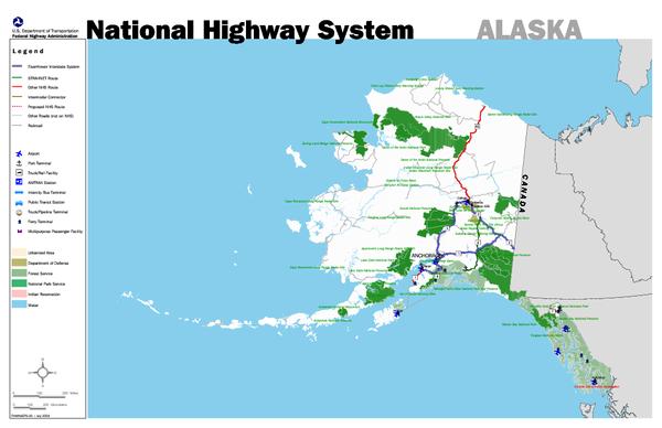 Map Of Alaska Highway System.Alaska Road Map Alaska Mappery