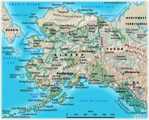 Alaska Road Map Alaska Mappery - Alaska maps