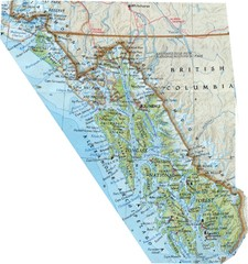 Alaska (South East Map) Panhandle Map