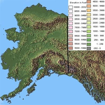 Alaska Topographic Map  Alaska  Mappery
