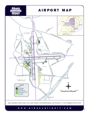 Albany International Airport Map