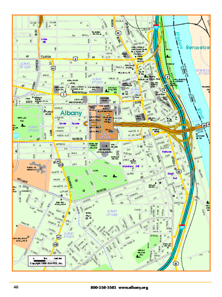 fullsize albany downtown map