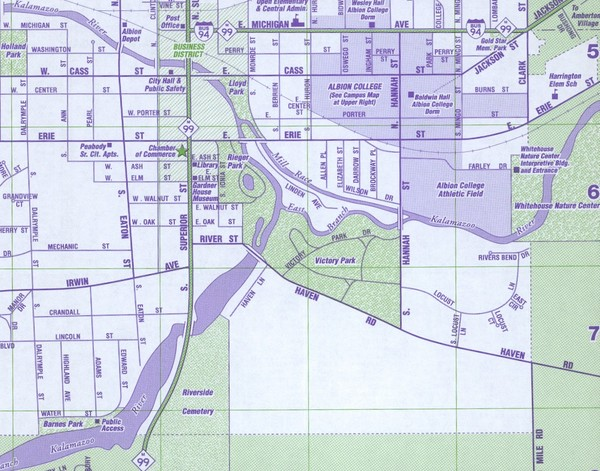 Albion City Map   Albion Michigan • mappery