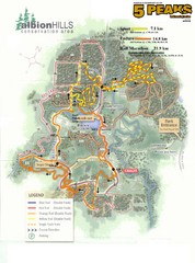 Albion Hills Running Course Map