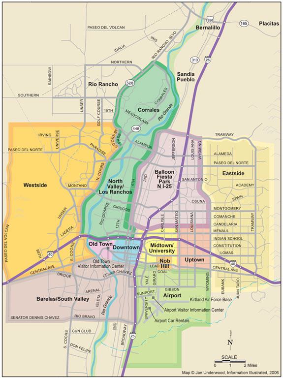Albuquerque Map Submited Images