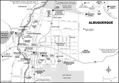 Albuquerque, New Mexico City Map