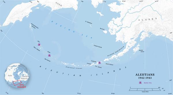 Aleutian Islands Map Mappery