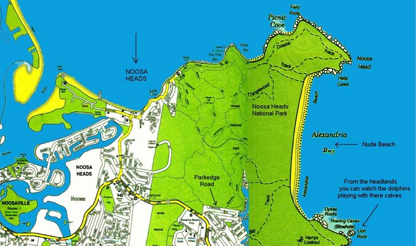 Alexandria Bay, Australia Beach Map