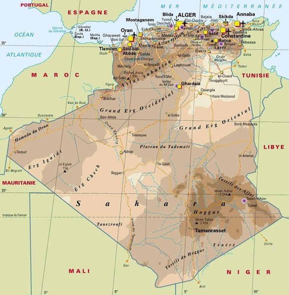 Algeria Map Algeria Mappery - Algeria map