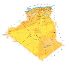 Algeria phydical Map