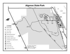 Algonac State Park, Michigan Site Map