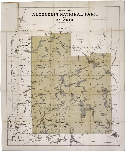Algonquin National Park Map 1893