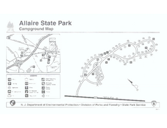 Allaire State Park campground map