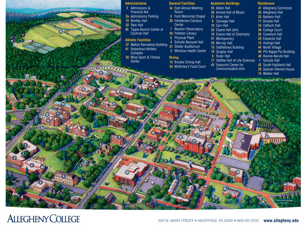 Allegheny College Map   Allegheny College 520 N Main St Meadville