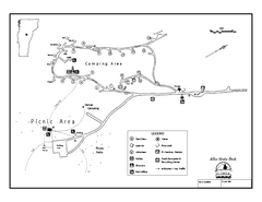 Allis State Park campground map