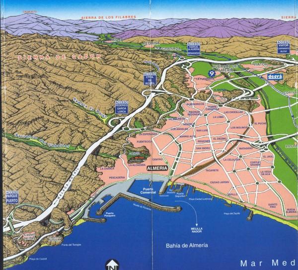 Map Of Spain Almeria.Almeria Panoramic Map Almeria Spain Mappery