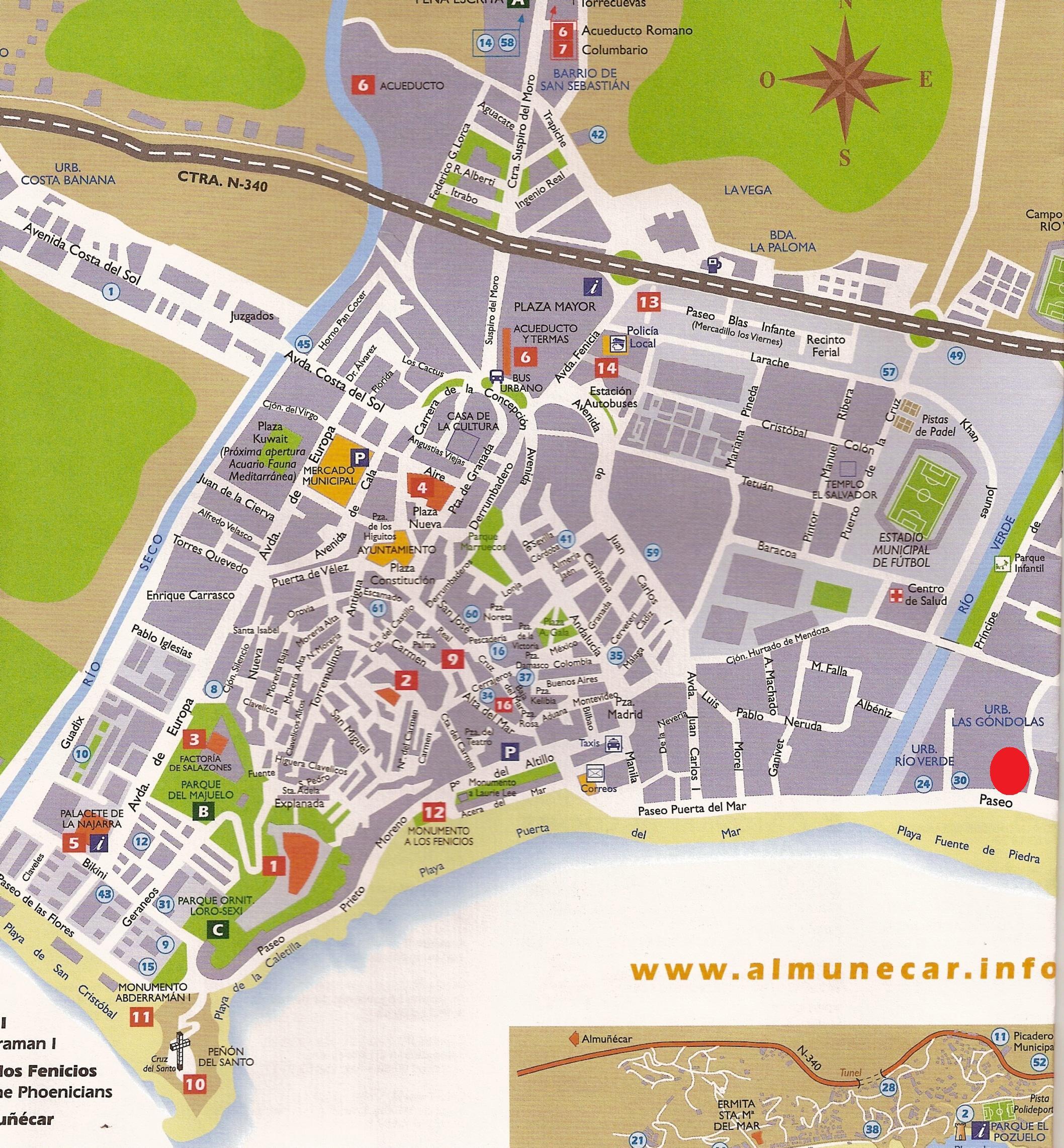 Almunecar Spain Map.Almunecar Map Almunecar Spain Mappery